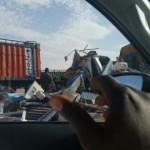 حادث مروع على طريق الامل بين 7 شاحنات والخسائر فادحة(صور)