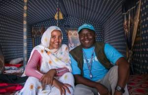 ممثلة شابة مشهورة تعيش لاجئة في موريتانيا