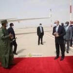 الرئيس الموريتاني يصل أنجامينا للمشاركة في تشييع جثمان «ديبي»